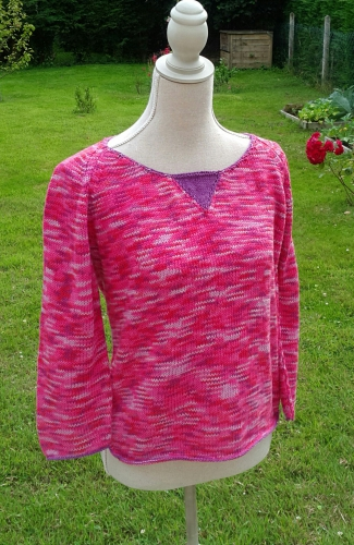 Pull coton rose